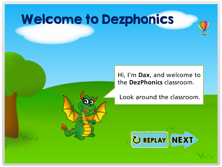 Dezphonics Welcome Screen