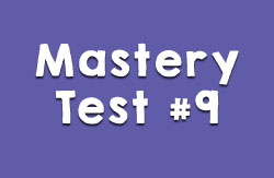 Mastery Test #9
